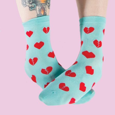 Heart Breaker Quirky Socks