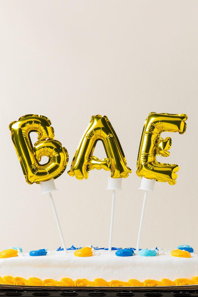 Bae Balloon Cake Toppers