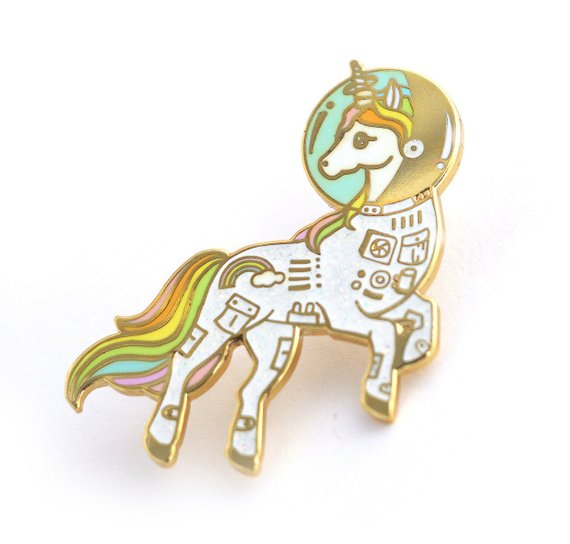 Space Unicorn Enamel Pin