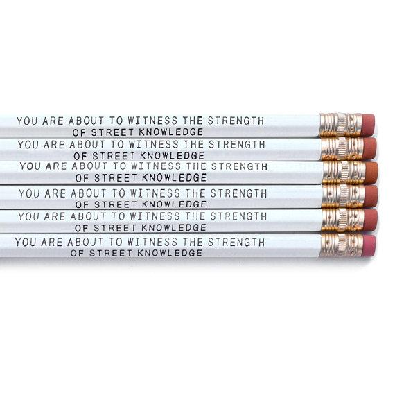 "NWA ""You're About to Witness the Strength of Street Knowledge"" Pencils Set of 6"