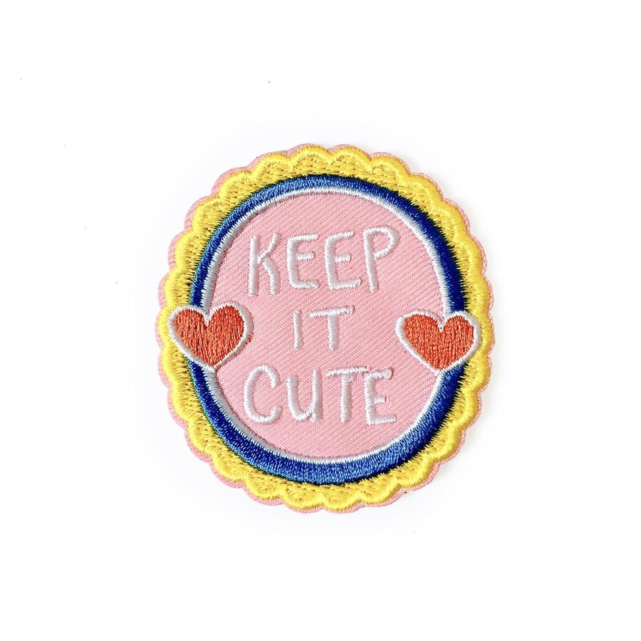Keep It Cute Patch Iron-On Patch