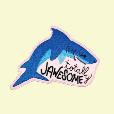 "Rhino Parade ""Totally Jawsome"" Iron on Patch"