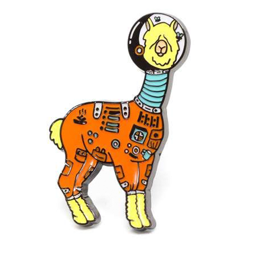 Space Lama Enamel Pin