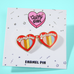 Sunshine and Rainbows Quirky Girl Enamel Pin