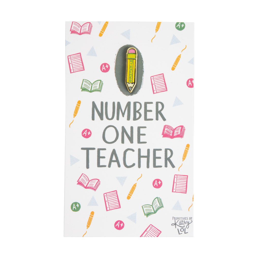 Enamel Pin - Number One Teacher