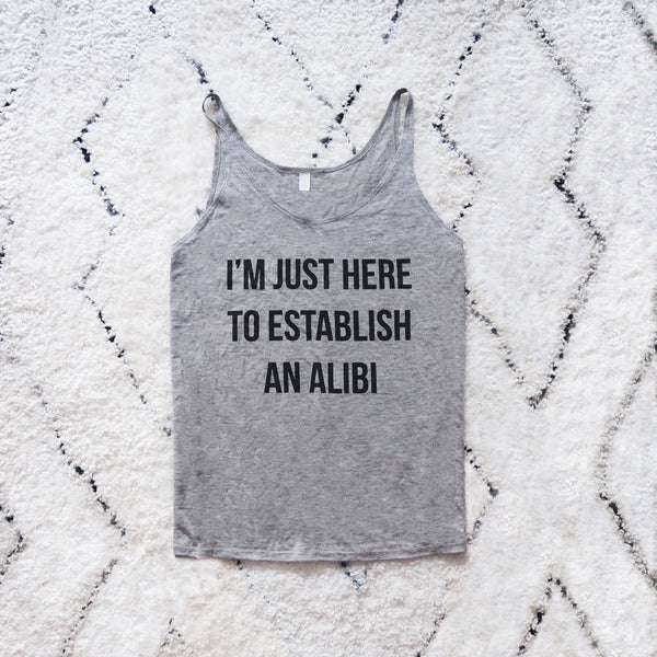 Alibi - Grey Slouchy Tank Top