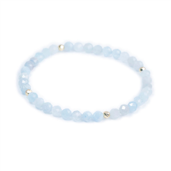 Aquamarine Power Crystal Bracelet - Courage