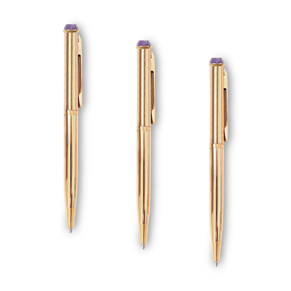Trio Power Crystal Pen - Amethyst