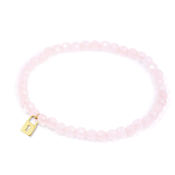 Rose Quartz Power Crystal Bracelet - Love