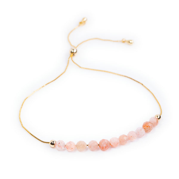 Sunstone Power Crystal Bracelet - Happiness | Adjustable Chain