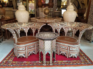 syrian mother of pearl inlay chairs