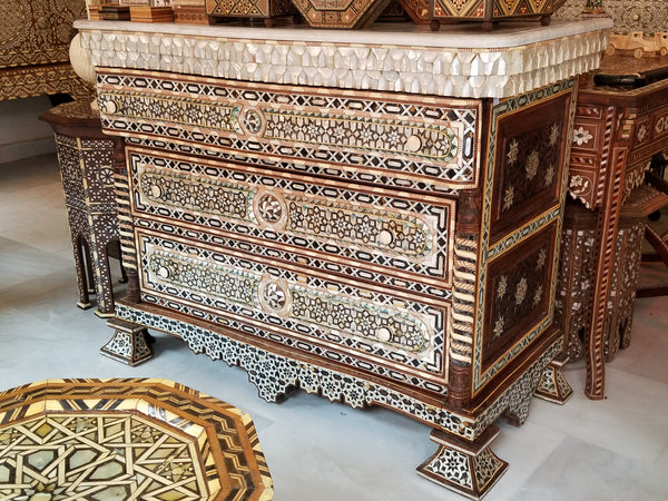 Syrian Mother Of Pearl Furniture Abalone Inlay Beds