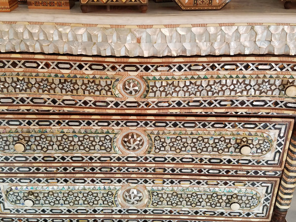 Exquisite syrian mother of pearl dresser
