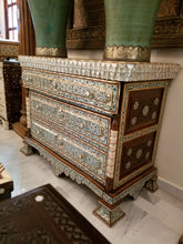 Syrian abalone shell chest of drawers