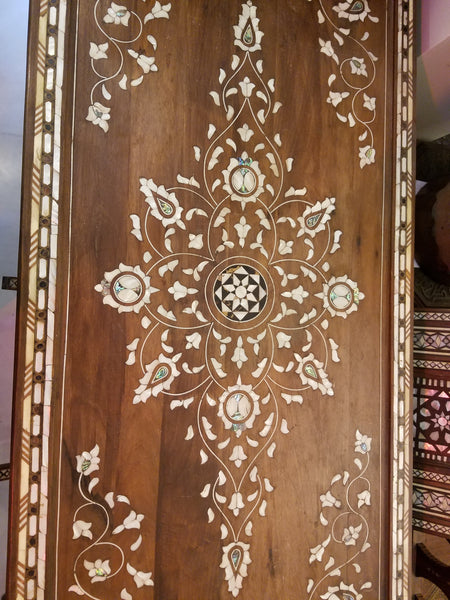 Syrian inlay mother of pearl console