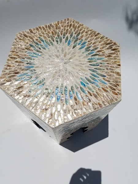 Exquisite capiz shell, sea shell table furniture