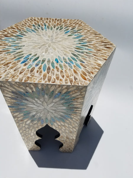 Sunshine seashell side table