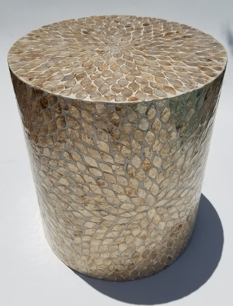 capiz shell side table