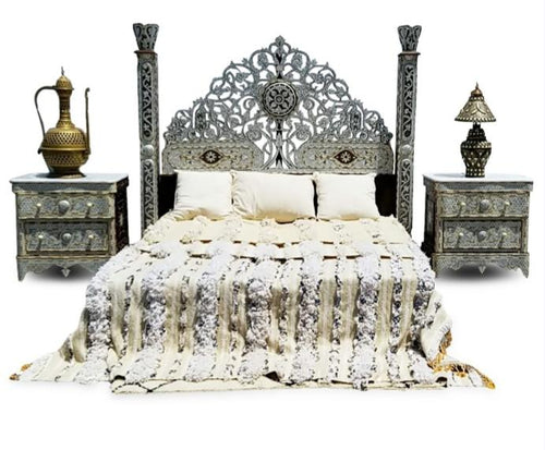 syrian mother of pearl bed