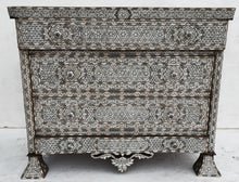 inlaid syrian mother of pearl chest of drawers