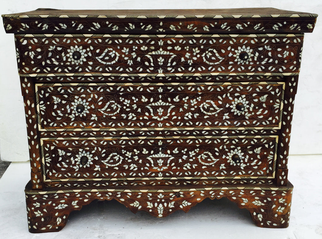 Syrian inlay mother of pearl cabinet