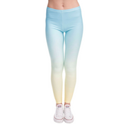 Rainbow Leggings - Opal Blue
