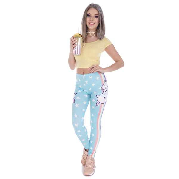Unicornio Leggings - Stars