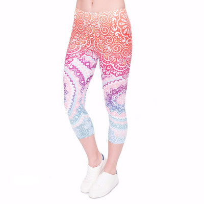 Rainbow Leggings Capry - Magic