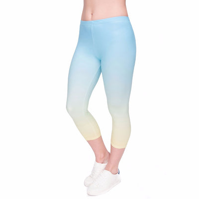 Rainbow Leggings Capry - Opal Blue