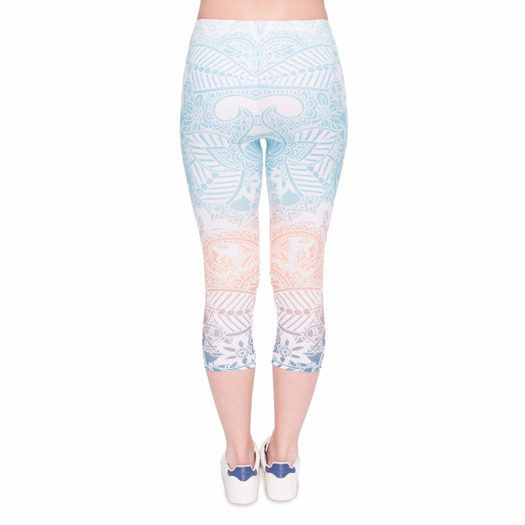 Rainbow Leggings Capry - Opal
