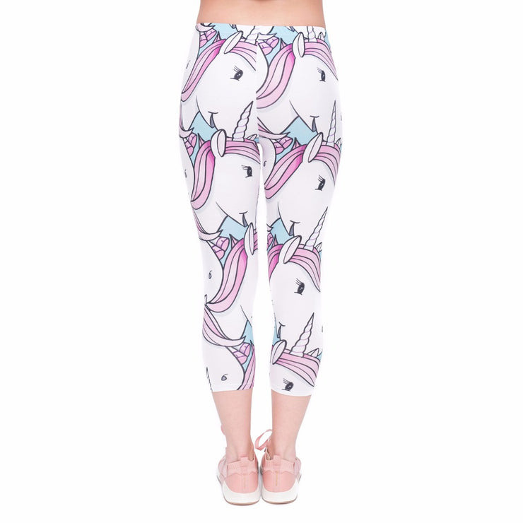 Unicorns Leggings Capry - Sugar