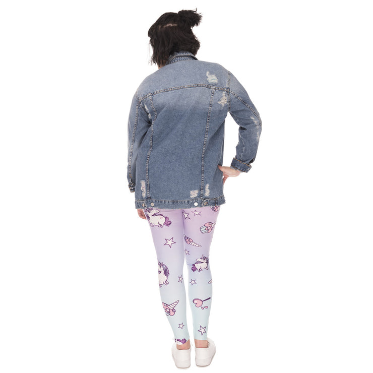Unicornio Leggings Plus Size - Candy