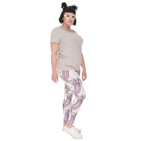 Unicornio Leggings Plus Size - Sugar