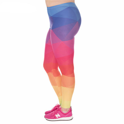 Rainbow Leggings Plus Size - Calypso