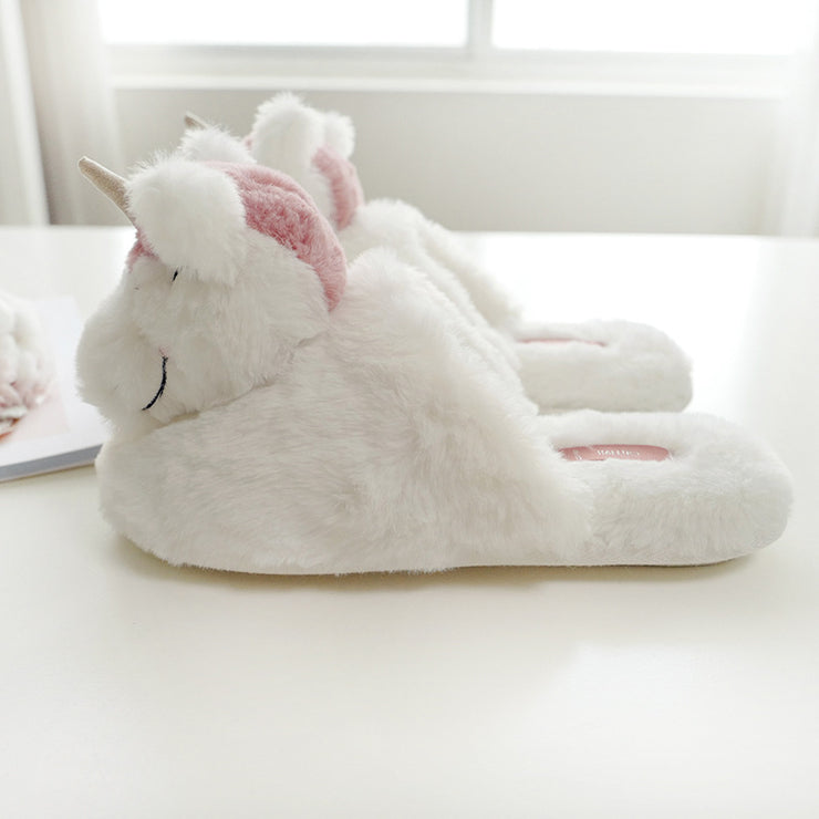Unicorn Slippers - Happy