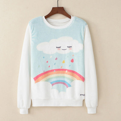Sudadera Plush - Sweet Rainbow
