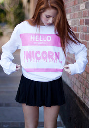Sudadera Hello My Name is Unicorn