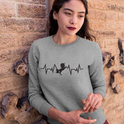 Sudadera de unicornio Unicorn Heart - Color Gris
