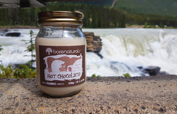 Barenaturals. Hot Chocolate Scented Candle