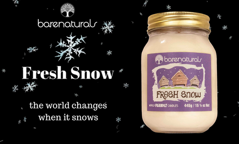 Barenaturals fresh snow candle