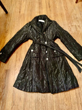 Guy LaRoche Iridescent Blue Belted Coat