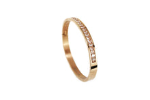 Load image into Gallery viewer, Rose Gold Bangle, Swarovski Crystals
