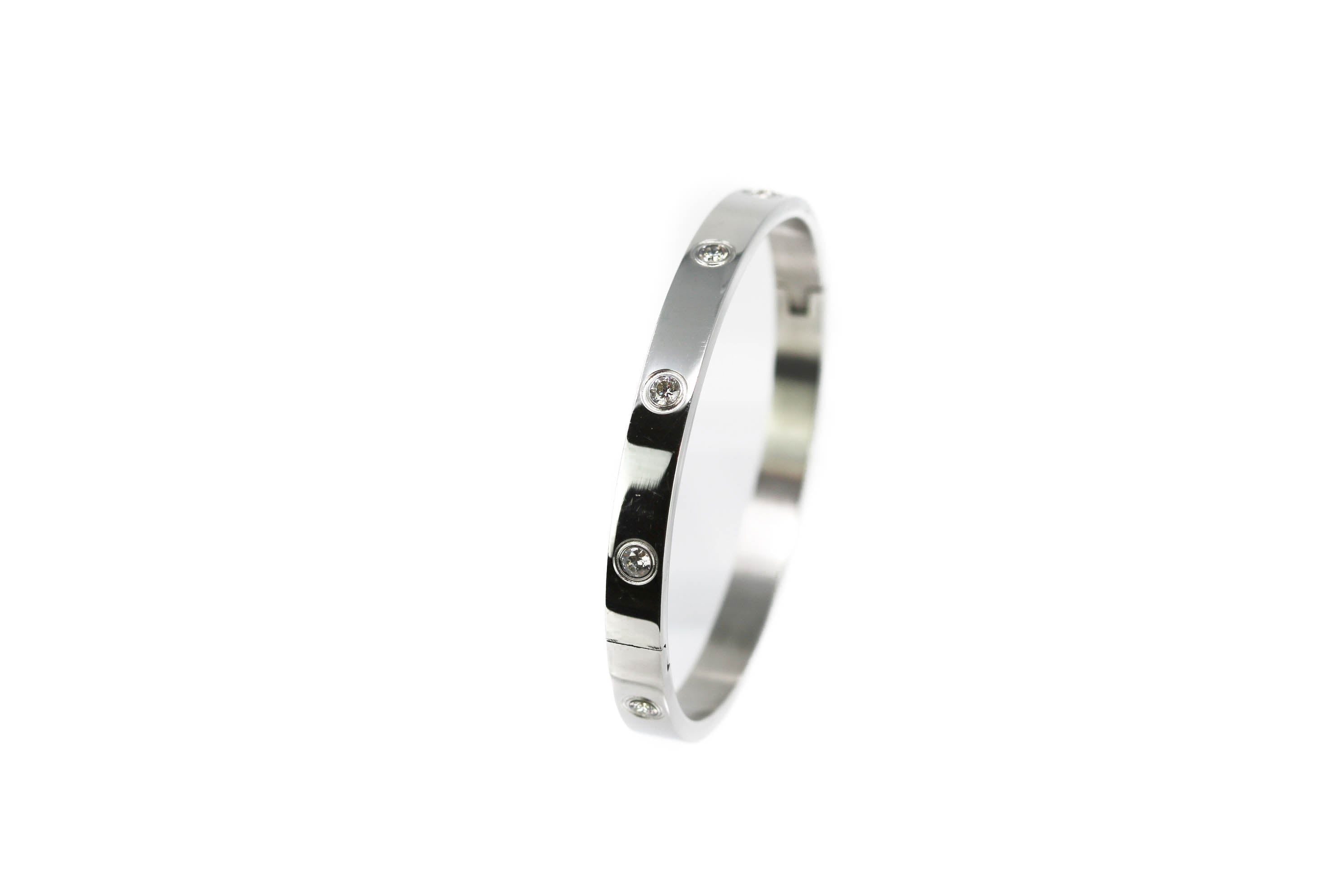 Signature Silver Cartier Love Bracelet