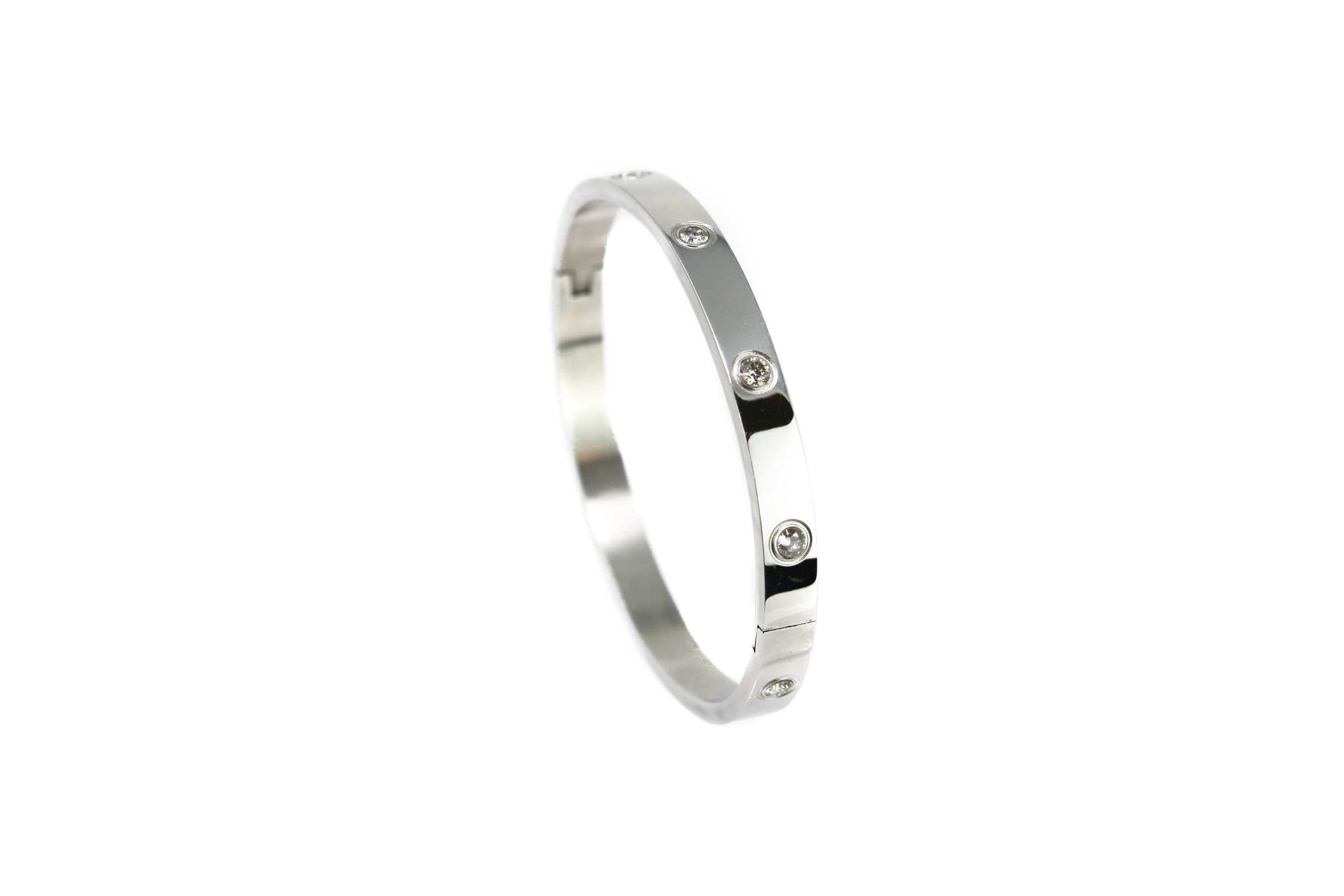 Signature Silver  Cartier Silver Bangle
