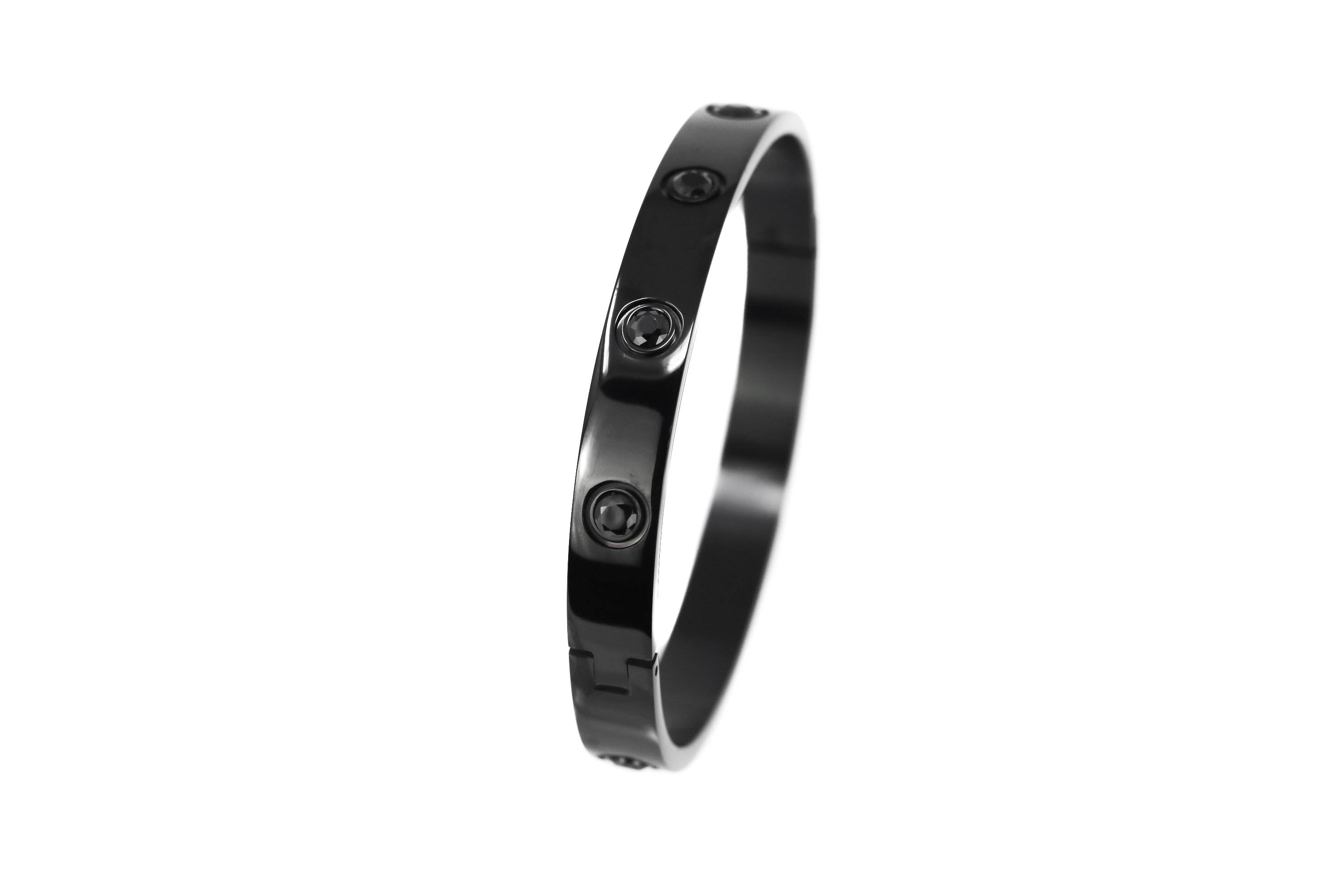 Black Crystal Black Bangle