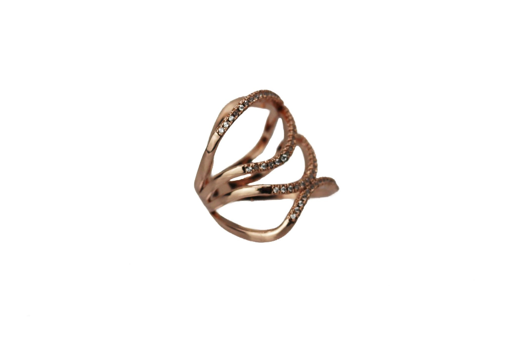 Eccentric Rose Rose Gold Ring
