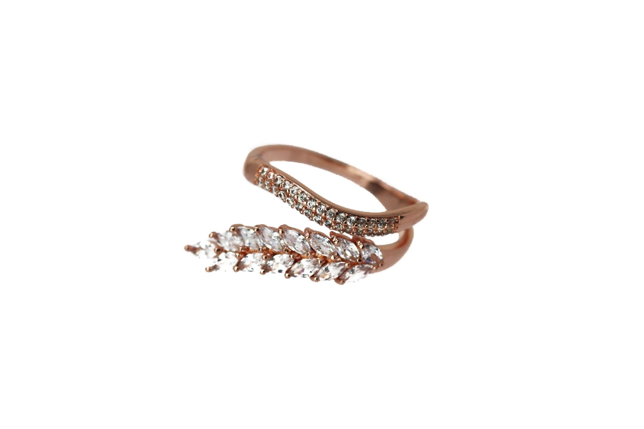 Feather Rose Rose Gold Ring