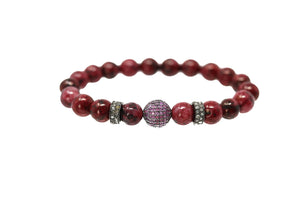 Polki Diamonds, Red Beads