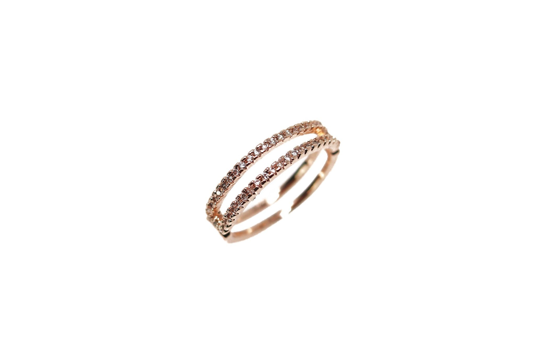 Double Rose Rose Gold Ring Women