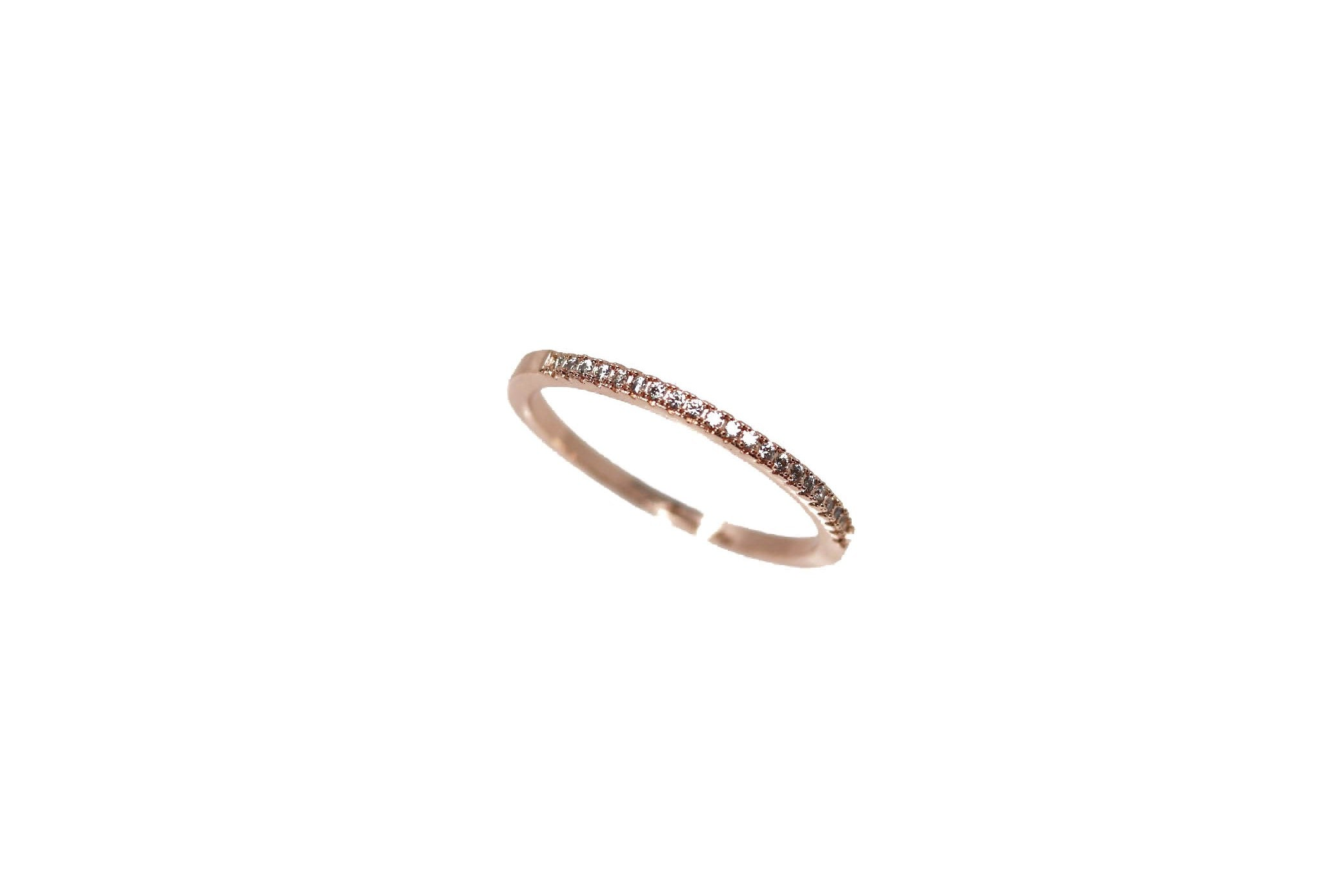Dainty Rose Rose Gold Ring